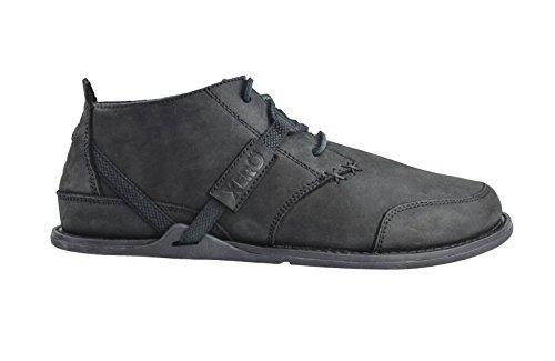 Xero Shoes Coalton - Chukka Style, Minimalist, Zero-Drop Low Leather Boot - Men Black/Black