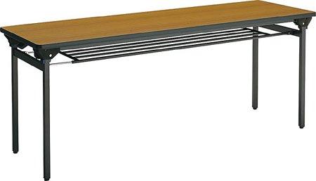 コクヨ 折りたたみ机(長机) KT-500シリーズ 角脚塗装  棚付き 幅1500×奥行き600mm 天板カラー:P1F B00AT82RSQP1F