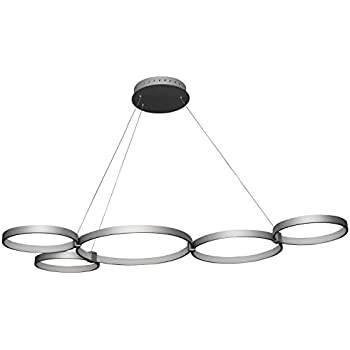 Amazon vonn vmc32500al modern 32 led chandelier adjustable vonn vmc32410al modern 55 led chandelier multi ring adjustable hanging light modern aloadofball Gallery