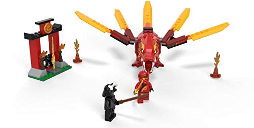 LEGO NINJAGO Legacy Kai's Fire Dragon 71701 Dragon Toy Figure Building Kit, New 2020 (81 Pieces)