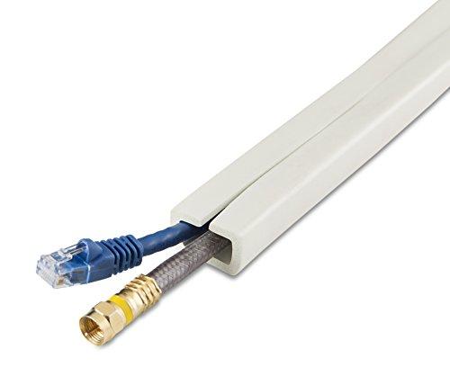 UT Wire UTW-CC1001-WH 10-Feet Cord Channel, White
