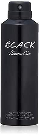 Kenneth Cole Black Body Spray for Men, 6.0 Fl Oz