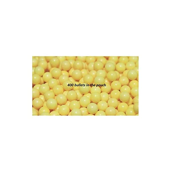 Home delivered 6 MM Plastic BB Bullets for Toy Guns & Air Gun | 400 Pcs | Yellow Colour