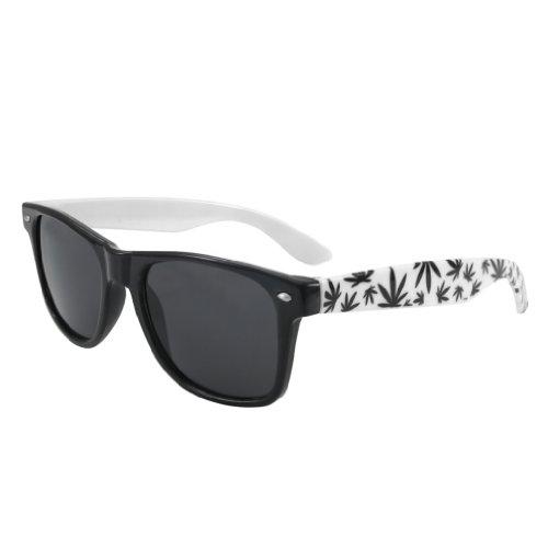 TM de diseño negro ahumados con Gafas 4sold ochentero cristales Negro leaves sol unisex daEdq