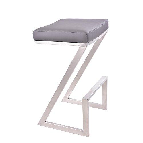 """Armen Living Atlantis 26"""" Backless Barstool in Brushed Stain"""