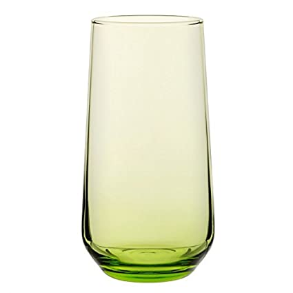 Utopía p420015-green-b06024Allegra vasos altos, 16,5oz (46.75cl), verde (Pack de 24)