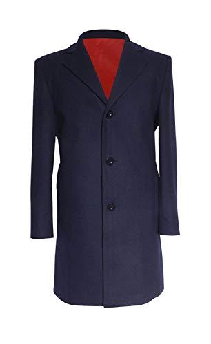 Wolfbar 12th Dr Dark Blue Frock Coat Halloween Cosplay Costume Male XXL -