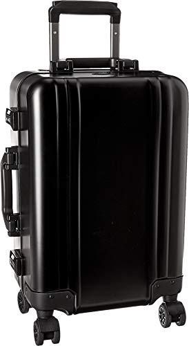 Zero Halliburton Classic Aluminum 2.0 Carry-On 4 Wheel Spinner Travel Case (Black) ()