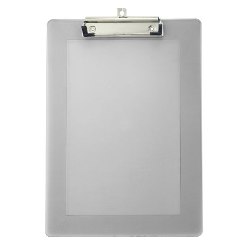 Officemate Plastic Clipboard Letter Size with Low Profile Clip, Assorted Transparent Colors (83007) ()