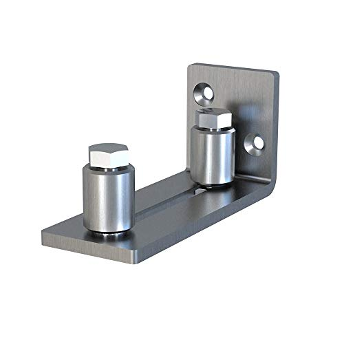 Scratch Resistant Stainless Steel Flush Mount Stay Roller Wall Mount Floor Guide for Door Thick Up to 2 1/8 ()
