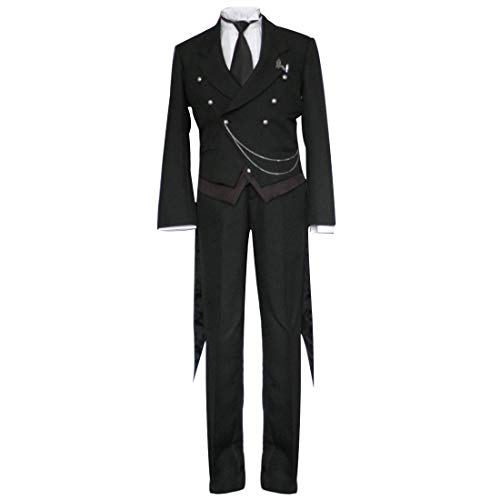 Butler Outfit Costume (ANOTHERME Another Me Black Butler Men's Sebastian Michaelis Halloween Cosplay Costume Outfit Cosplay Male)