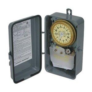 Intermatic T1975R SPDT Electromechanical Timer Switch 125V Nema 3R Outdoor Steel Enclosurewithseven (7) Day Skipper