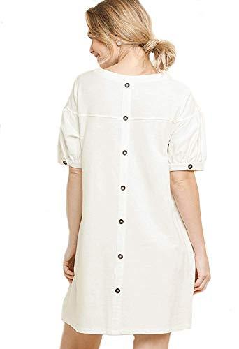 Umgee Beloved Boho! French Terry Dress or Beach Cover (Medium, ()