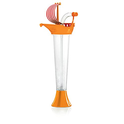 Pirate Ship Cups Kids Party 12-PACK - for Cold or Frozen Drinks, Kids Parties - First it's a Cup, then it's a Toy - 9 oz. (250 ml) - set of 12 Yard Cups in assorted colors and Sail designs by Sweet World (Image #4)