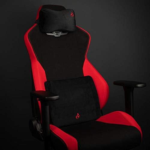 Nitro-Concepts Coussin en Mousse visco/élastique pour chaises de Jeu//chaises de Bureau Noir//Noir