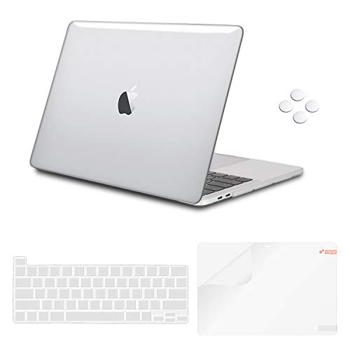 iCasso MacBook Pro 16 Inch Case 2019 Release A2141, Ultra Slim Protective Plastic Hard Shell Case with Keyboard Cover Skin & Screen Protector for Newest Mac Pro 16'' with Touch Bar & Touch ID - Clear