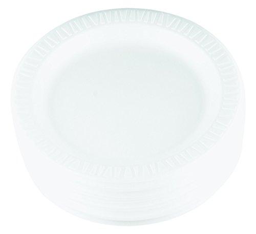 Soak Proof Foam Plates - Dart 9PWQR 9 in White Laminated Foam Plate (Case of 500)