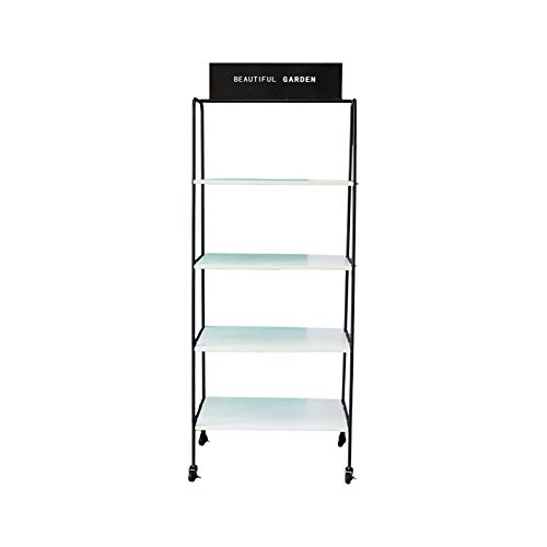 Exing Flower Stand, Simple Wrought Iron Floor-Standing Flower Rack Office Bedroom Bookcase Multi-Layer Partition Display Shelf (Size : 10029192cm)