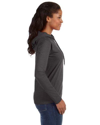 Yunque de la mujer ligera con capucha camiseta Gris oscuro Heather