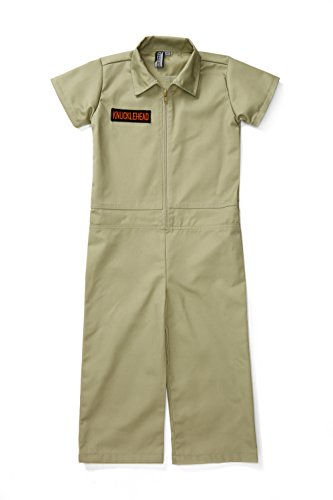 Kids Coverall For Boys, Mechanic Halloween Jumpsuit Costume Baby Outfit (4T, Olive)