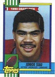 Amazoncom 1990 Topps Football Rookie Card 381 Junior Seau
