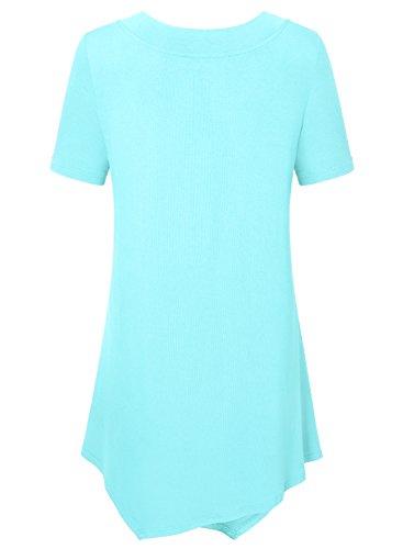 Ca Manches Nu Casual Et Epaule Courtes Femmes Chemise Kra Lumire Shirt La Bleue Blouse Tunique T rwzqWxprYa