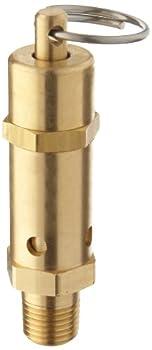 "Kingston 112CSS Series Brass ASME-Code Safety Valve, 125 psi Set Pressure, 1/4"" NPT Male"