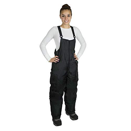 RPS Outdoors Women's Snow Bibs (Black, XL)