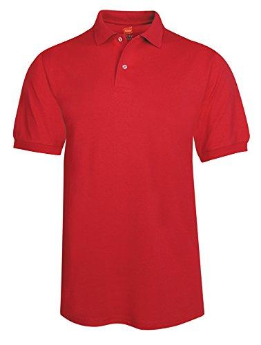 Men's 5.2 oz Hanes STEDMAN Blended Jersey Polo, Large, Deep ()