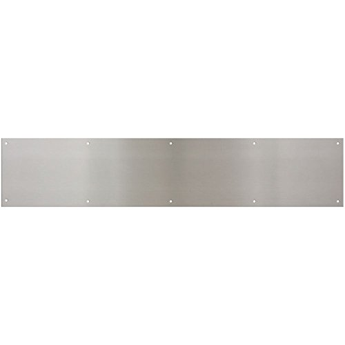 National Hardware N325-407 V1996 Kickplate in Satin Nickel