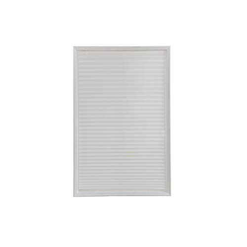 Yunzee Blackout Pleated Shade Blinds Horizontal Window Curtain Fabric Room Darkening Roller Shades,White,60150