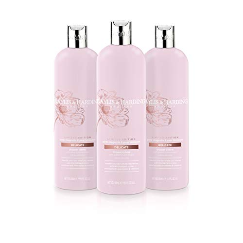(Baylis & Harding Pink Magnolia & Pear Blossom 500ml Moisturising Shower Creme, Pack Of 3, 582 Gram)
