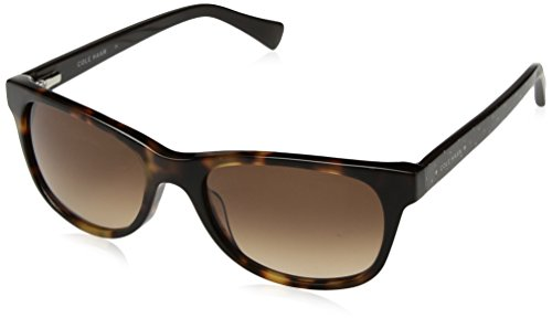 Cole Haan Women's Ch7011 Plastic Rectangular Sunglasses, Soft Tortoise, 54 - Case Sunglass Haan Cole