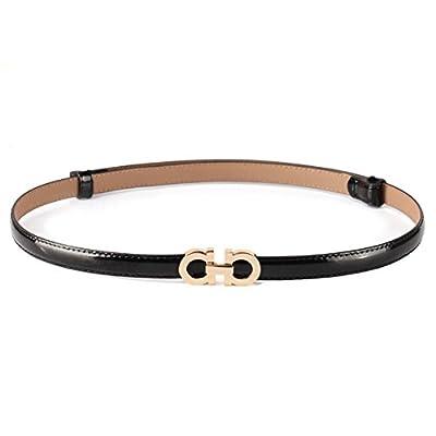 KaLeido Women's Stylish Adjustable Solid Color Skinny Waist Belt