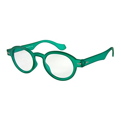 Est Vintage Black Finish (I NEED YOU Round Eyeglass Green Doktor Frame Reading Glasses Prescription Eyeglasses For Men & Women Spring Hinge High-Quality Plastic Eyeglasses With Strength +2.0)