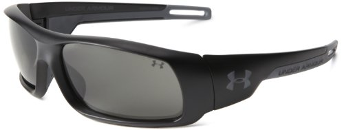 Under Armour Hammer Polarized Wrap Sunglasses, Black, 54 mm