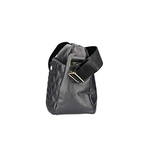 VN2887 BIAGIOTTI gris bandoulière Sac zip L à femme ouverture Pv468B
