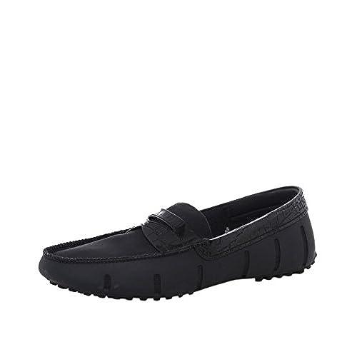 919ea6172c3 on sale Swims Men s Penny Loafer Alligator Shoes Navy - holmedalblikk.no