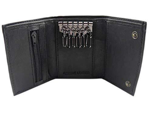 Black Leather Key Holder wallet Classic Design Card Holder