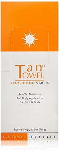 - Tan Towel Self Tan Towelette Fair to Medium Skin Tone --Each .50 oz ( pack of 50 towelettes )