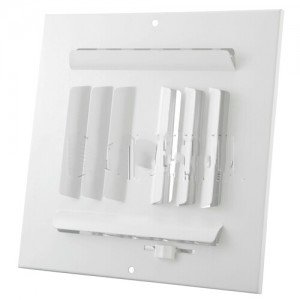 Hart & Cooley HVAC Register, 8'' W x 8'' H, Four-Way Steel for Sidewall/Ceiling - White (013462)-2PK