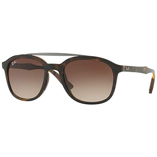 Ray-Ban RB4290 Square Sunglasses, Havana/Brown Gradient, 53 mm