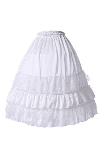 ROLECOS Hoops Skirt Crinoline Petticoats Slips Floor Length for Formal Gown XL