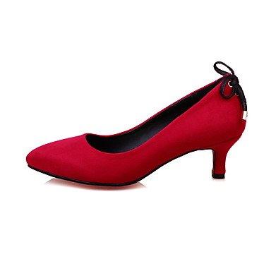 Le donne sexy elegante sandali donna tacchi Primavera Estate Autunno Inverno altre pile Office & Carriera abito Bowknot Casual Lace Up Nero Rosso grigio , nero , noi10.5 / EU42 / uk8.5 / CN43