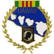 Pow Mia Wreath (Metal Lapel Pin - POW/MIA Pin - State Wreath Pin - POWMIA Hawaii)