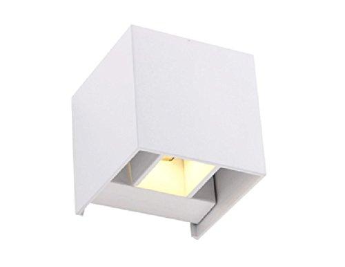 Applique da parete a led cubo w fascio luce regolabile