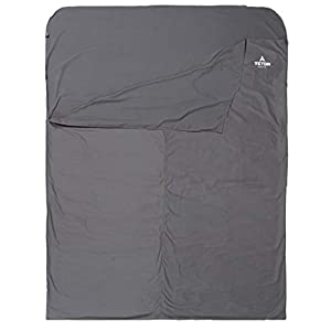 TETON Sports Mammoth Cotton Sleeping Bag Liner; A Clean Sheet Set Anywhere You Go; Perfect for Travel, Camping, and Anytime You're Away from Home Overnight; Machine Washable