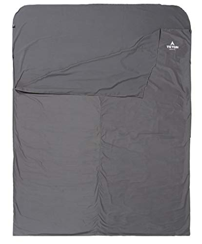 (TETON Sports Mammoth Cotton Sleeping Bag Liner; A Clean Sheet Set Anywhere You Go; Perfect for Travel, Camping, and Anytime You're Away from Home Overnight; Machine)