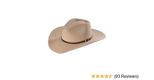 29d8e37515aef Stetson Men s 4X Buffalo Felt Seneca Pinch Front Western Hat at Amazon  Men s Clothing store  Cowboy Hats