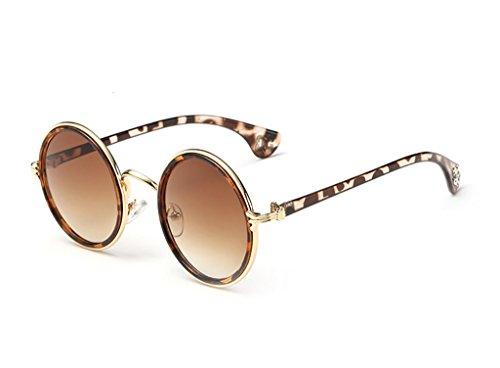 Glasses Yxsd Round Metal Unisex Sol Color Classic 8 4 de Frame Retro polarizadas Sun Gafas PYFrHP